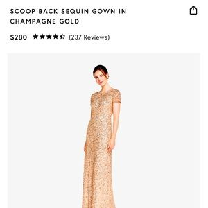 Adrianna Papell scoop back sequin gown